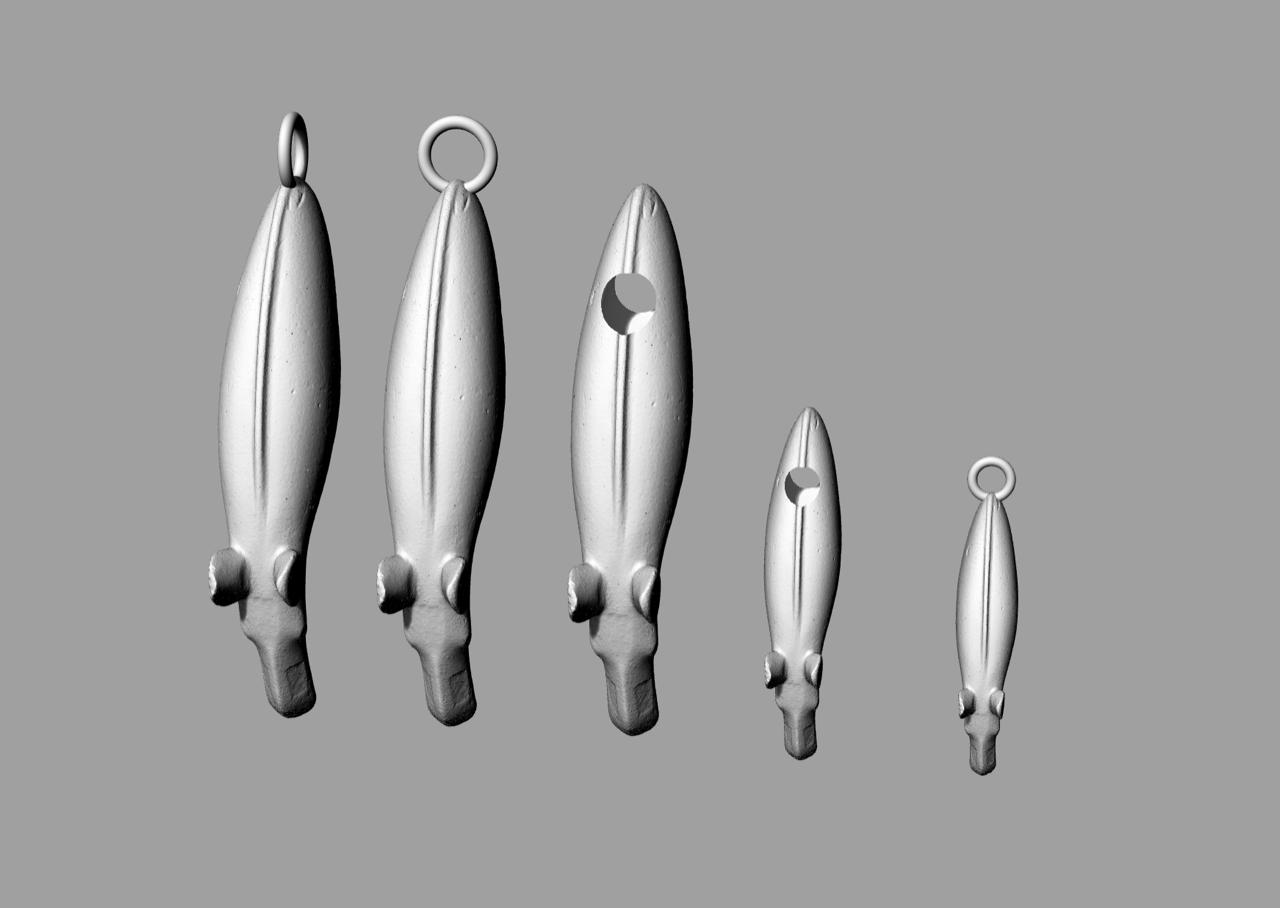 Prototyper för smyckestillverkning, med en 3D-modell av Alundaälgen som bas.