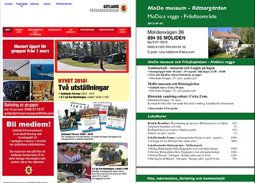 Två olika webbplasters första sidor bredvid varandra