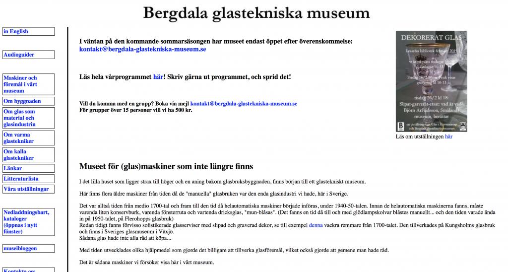 text i olika format mot vit bakgrund på en webbplats