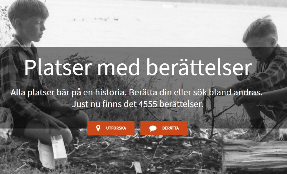 Skärmdump av sajten Platser