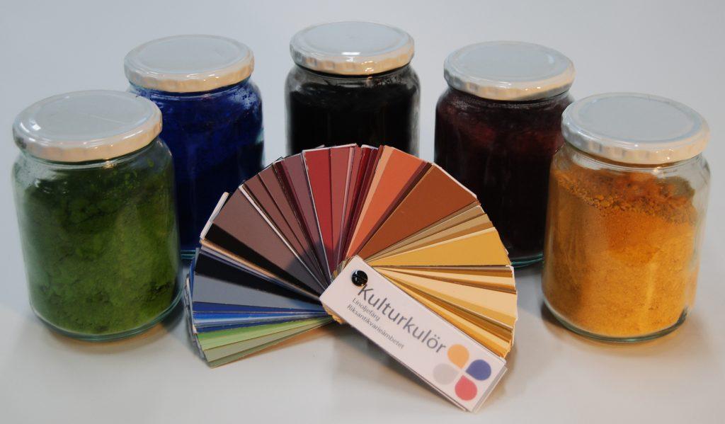Kulturkulör färgkarta och pigment