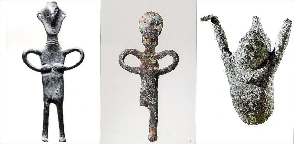 Tre forntidsfigurer hittade i Rydebäck.