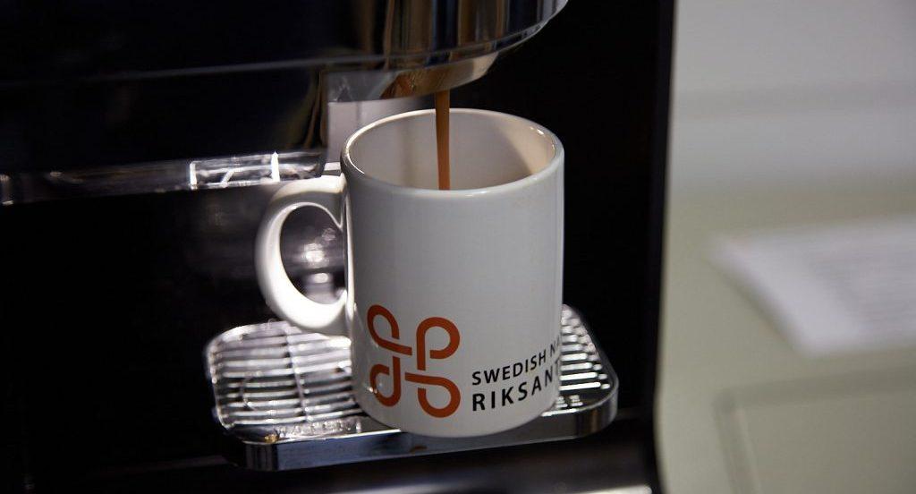 Kaffemugg i automat