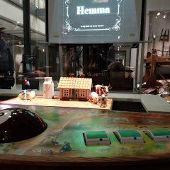 Den interaktiva stationen på plats i Sörmlands museum.