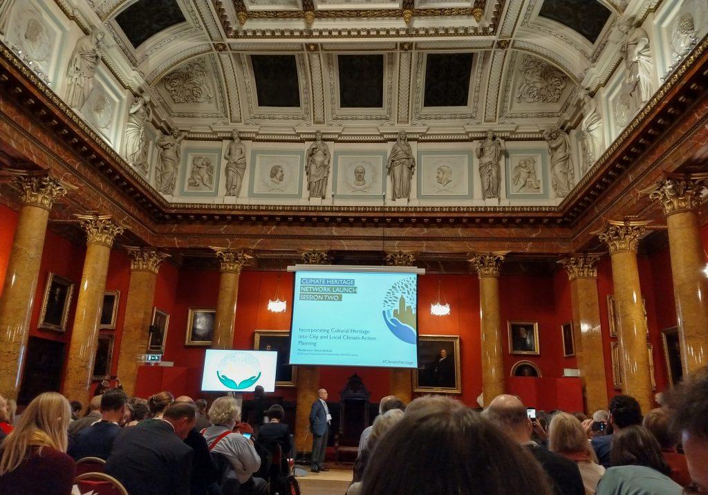 Lanseringen av Climate Heritage Network ägde rum i Royal College of Physicians, Edinburgh.