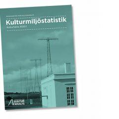 Omslag till rapporten Kulturmiljöstatistik (2020)