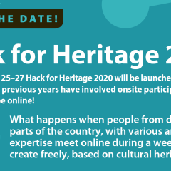 Illustration Save the dates, Hack for Heritage 2020