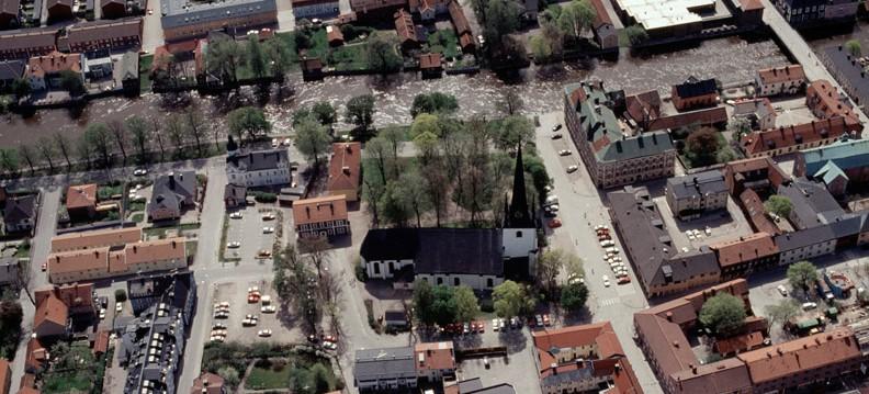 Flygbild över Arboga