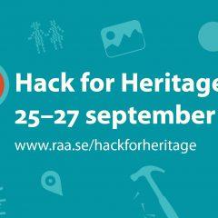 Datum för Hack for Heritage
