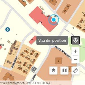 Bild som visar Visa din position i Fornsök.