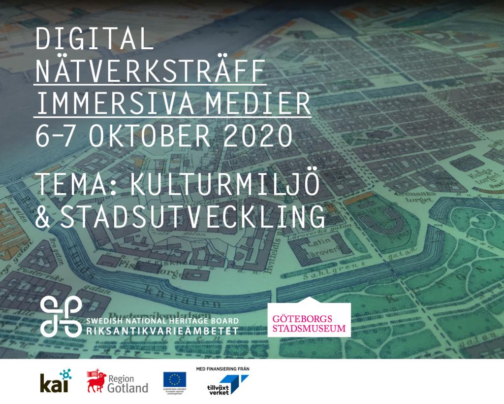 Nätverksträff immersiva medier 6-7 oktober-2020