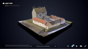3D-modell av borgen på Glimmingehus