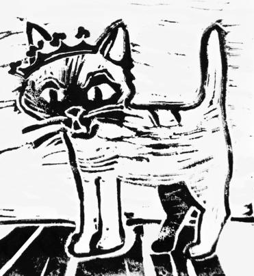 Katten Jönsson är Glimmingehus slottskatt.