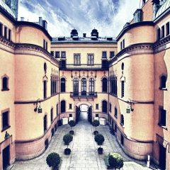 Bilden visar Hallwylska museets byggnad.