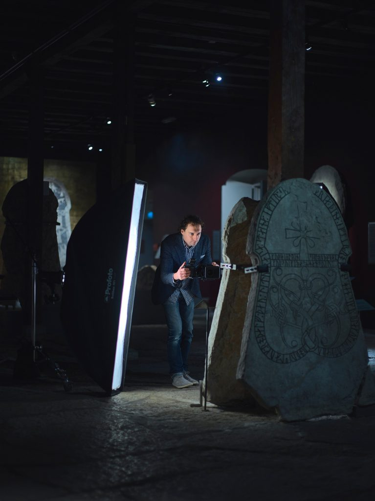 Bildstenshallen på Gotlands museum.