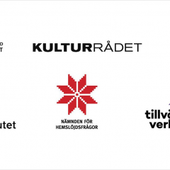 Logotyper för de sex organisationer som deltar i Kreativ omstart