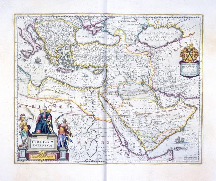En karta från 1600-talet som föreställer Osmanska riket.