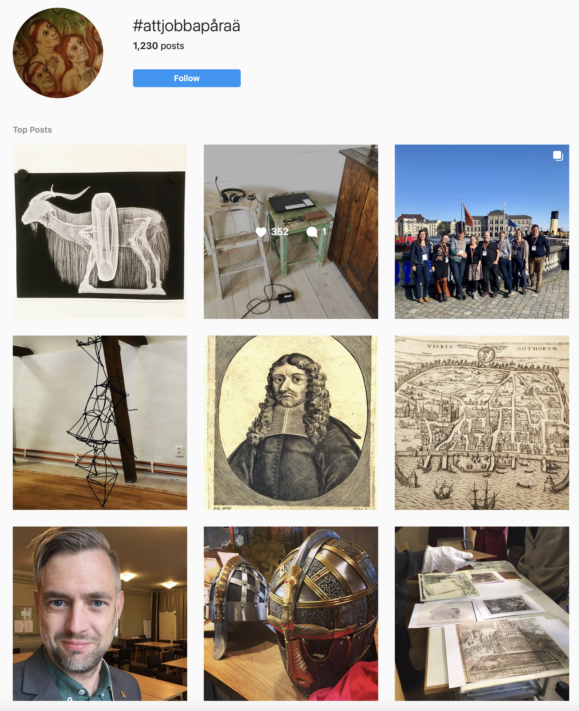 Bildgalleri med exempel på foton på Insta