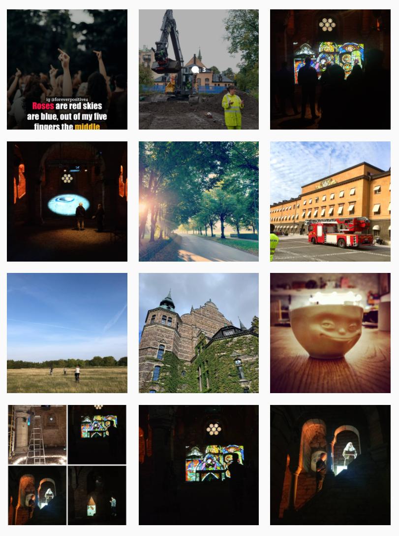Bildgalleri med exempel på foton på Insta med hashtag #attjobbapåraä.