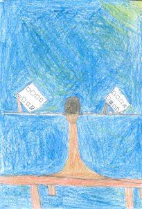 Barnteckning på en röstsedel
