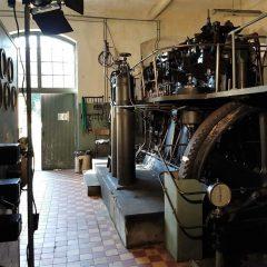 Bild på Sibo-dieseln, en dieselmotor som bevaras och förevisas av den ideella föreningen Sibo-dieselns bevarande