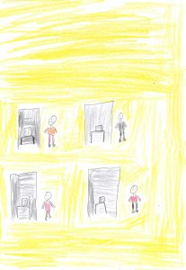 Barnteckning på vallokal