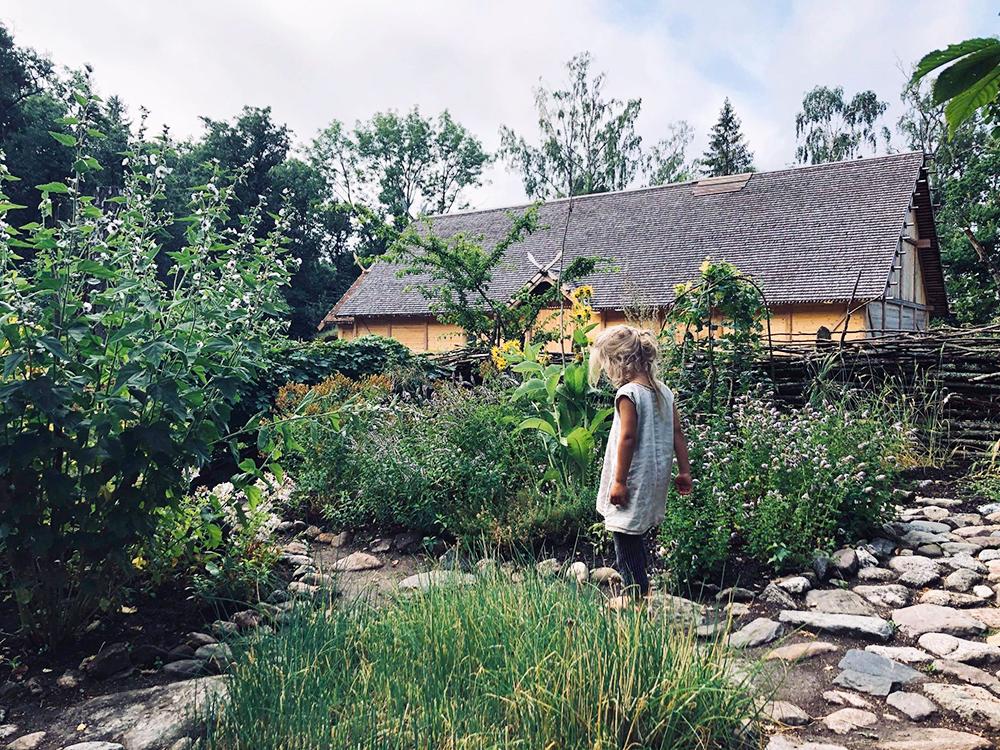 Vikingahallen och örtagård